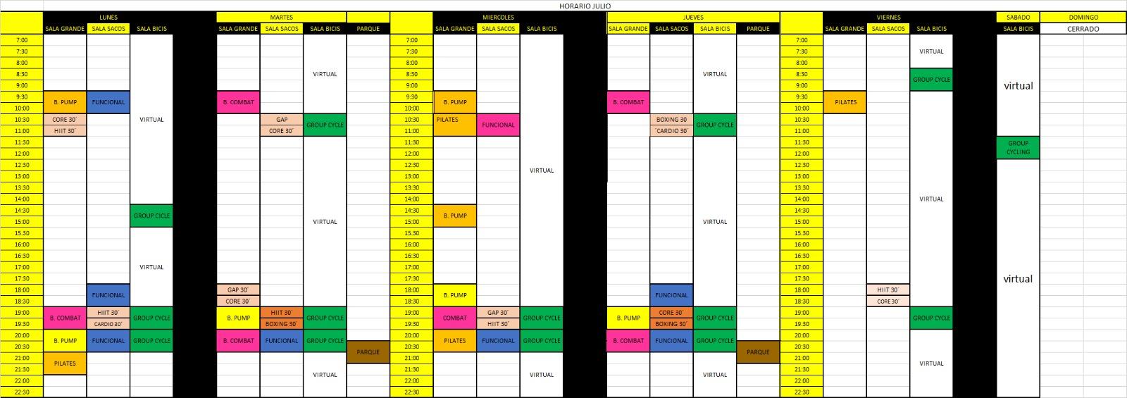 actividades julio 2020